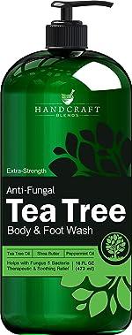 Handcraft Antifungal Tea Tree Oil Body Wash and Foot Wash –