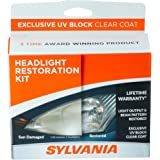 SYLVANIA - Headlight Restoration Kit - 3 Easy Steps to Restore Sun Damaged Headlights With Exclusive UV Block Clear Coat…