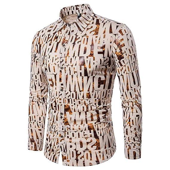 Blusa de Hombre de BaZhaHei, Camisa de Manga Larga de Las Camisas Ocasionales del otoño