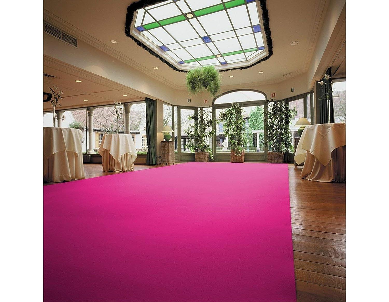 Hochzeitsteppich Hochzeitsl/äufer 1m x 30m VIP Teppich Farbe Pink Eventtepich Empfangsteppich Gangl/äufer Schwer Entflammbar