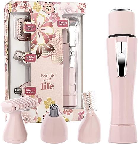 Afeitadora eléctrica para mujer 4 en 1, depiladora sin dolor con ...