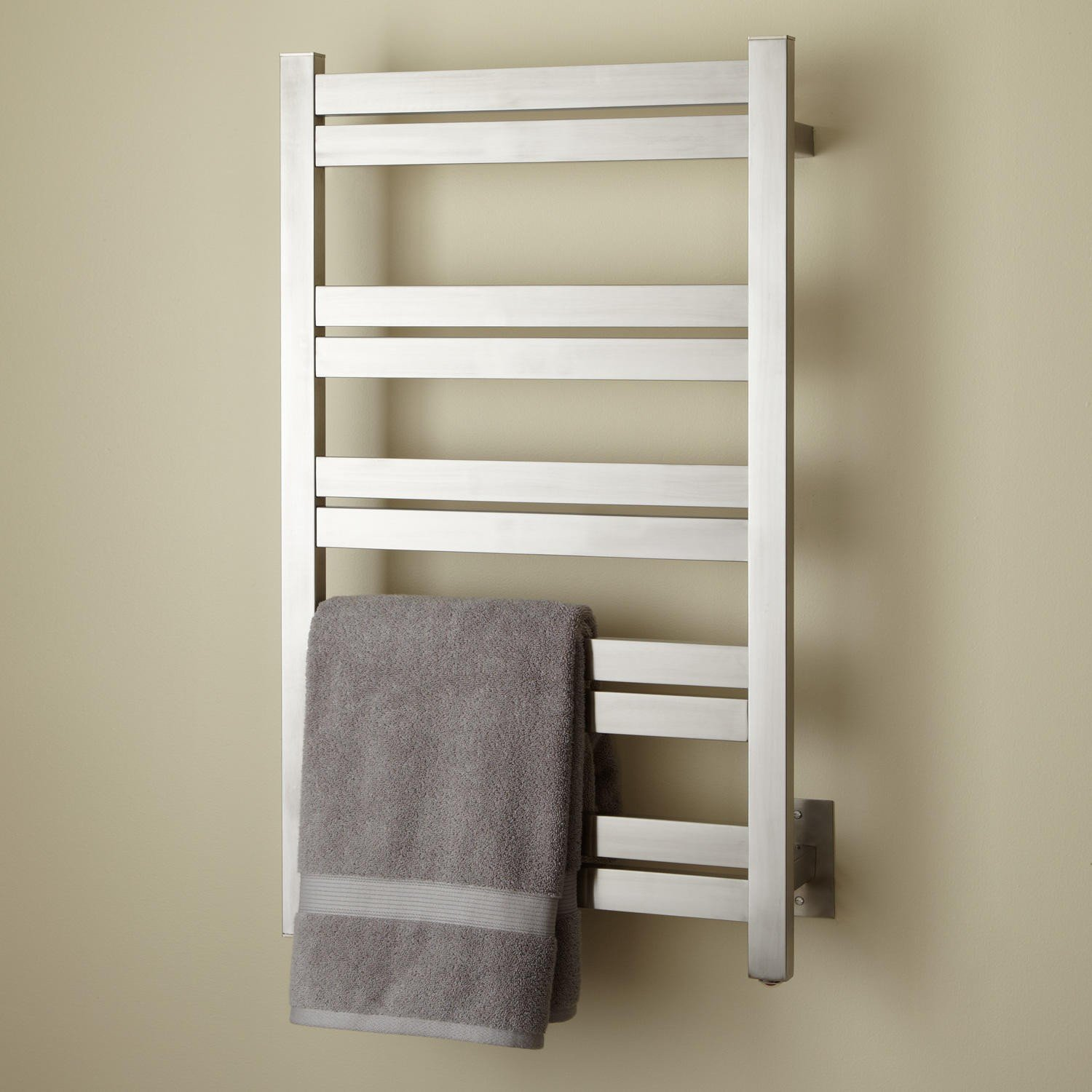 Naiture 20'' Extra Tall Hardwired Towel Warmer In Brushed Stainless Steel Finish
