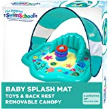 SwimSchool Splash Play Mat, Inflatable Kiddie Pool with Backrest and Canopy, Includes Three Stackable Rings (SSI11261Z)