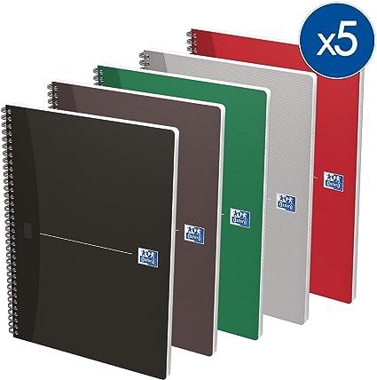 Oxford 282873 - Cuaderno de anillas (multicolor) tamaño A4 - Pack ...