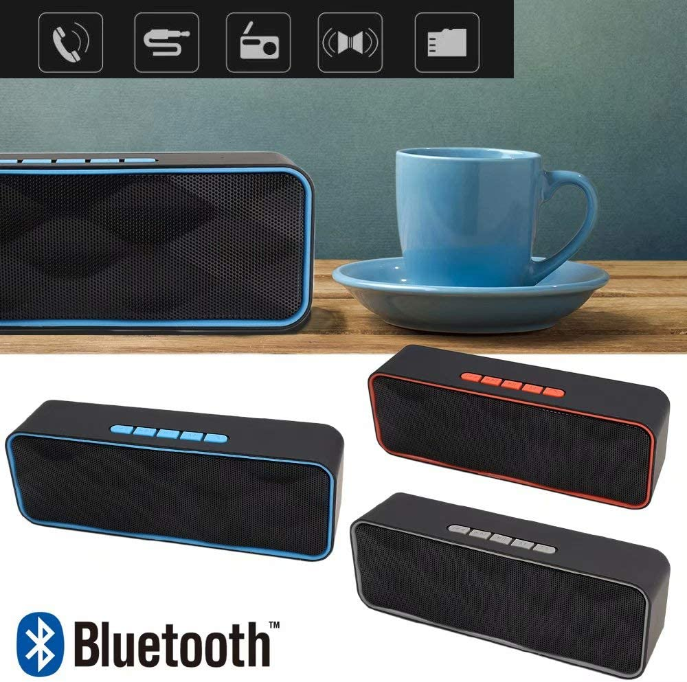 Cycle Charging,4.2 RDA Solution Jahyshow Portable Wireless Bluetooth Speaker HiFi Super Bass Loud Stereo Sound Case with FM Radio AUX Hands-Free Calling