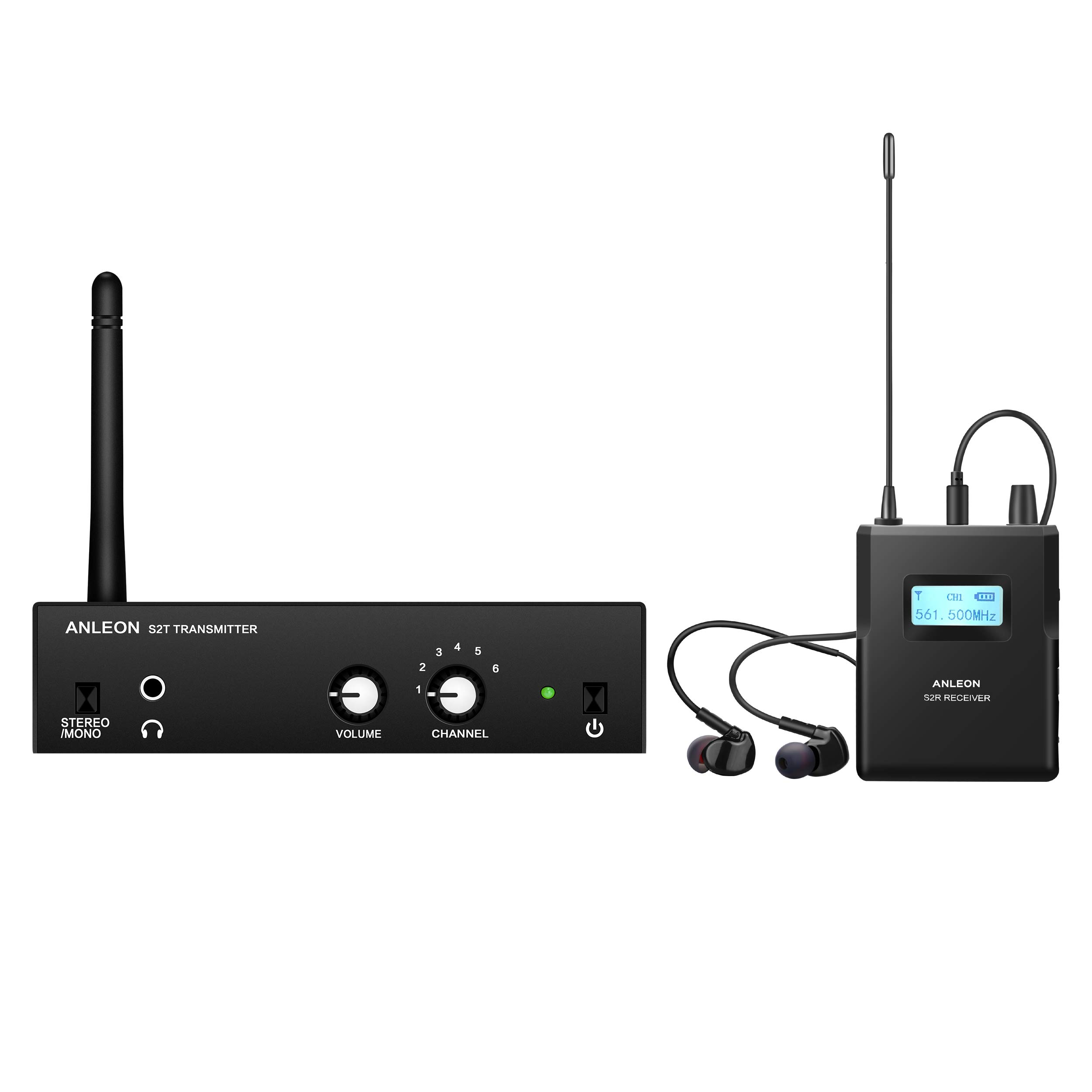 ANLEON S2 Wireless In-ear Monitor System UHF (561-568MHz, Transmitter and Receiver)