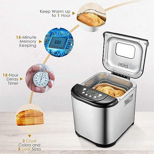 Aicok 004-new - Máquina de pan: Amazon.es: Hogar