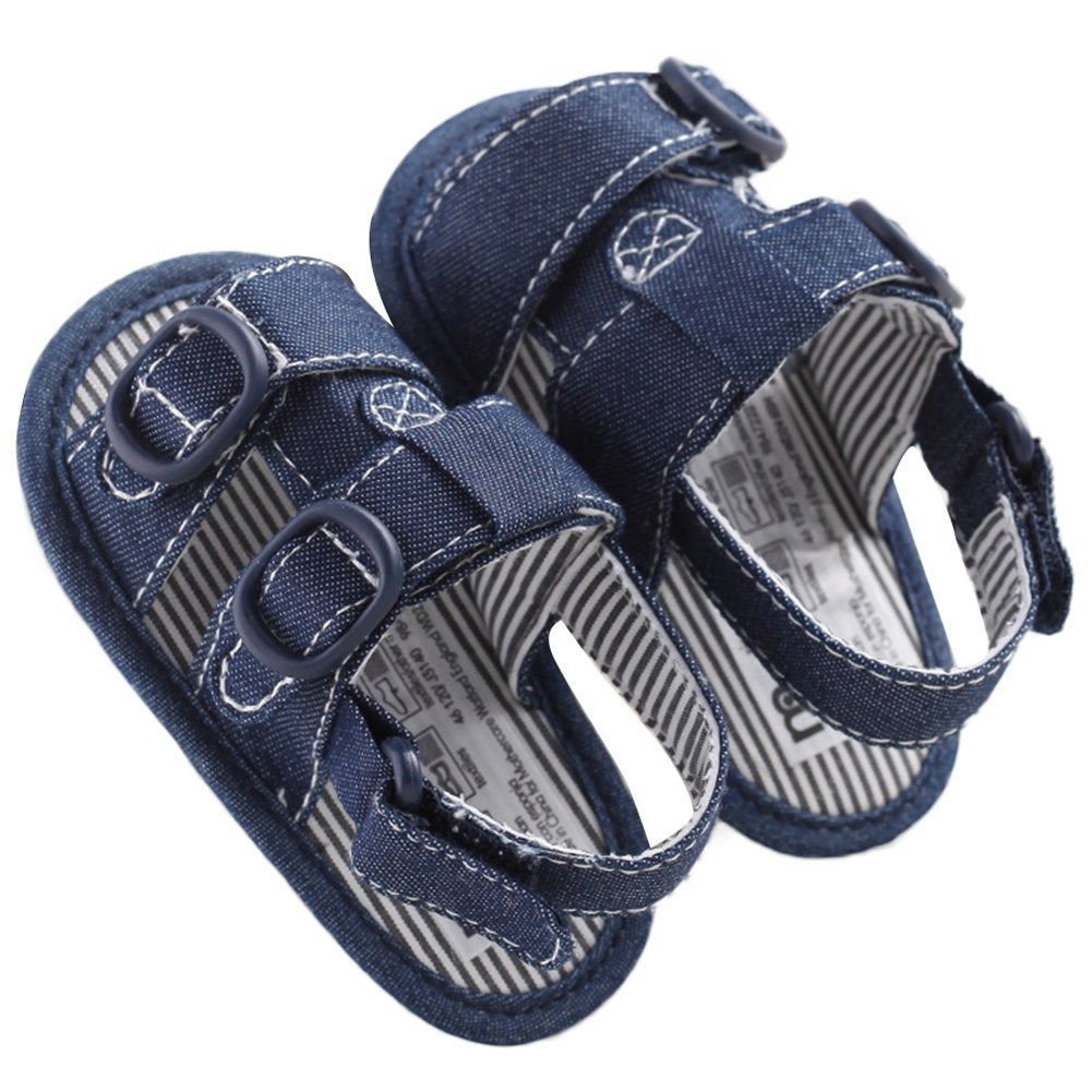 WAZZIT Baby Boys Prewalker Summer Canvas Anti-skid Soft Sole Sandals First Walkers