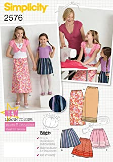 product image for Simplicity Learn to Sew Pattern 2576 Girls Skirts Sizes 3-4-5-6
