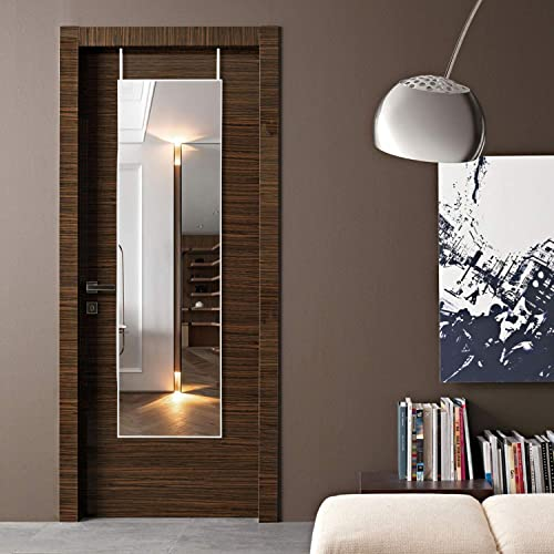 KIAYACI Full Length Mirror Floor Mirror Wall Mounted Mirror Aluminum Alloy Frame Bedroom/Living Room/Dining Room/Entry White