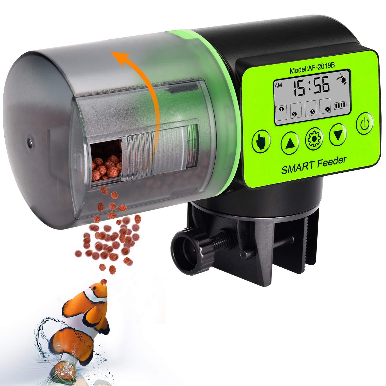 uniwood Automatic Fish Feeder - Digital Auto Fish Feeder, Aquarium Tank Timer Feeder Vacation &Weekend 2 Fish Food Dispenser by uniwood