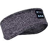 Sleep Headphones Bluetooth Headband with Built -in Speakers Soft Sleeping Wireless Music Sport Headbands, Long Time Play…