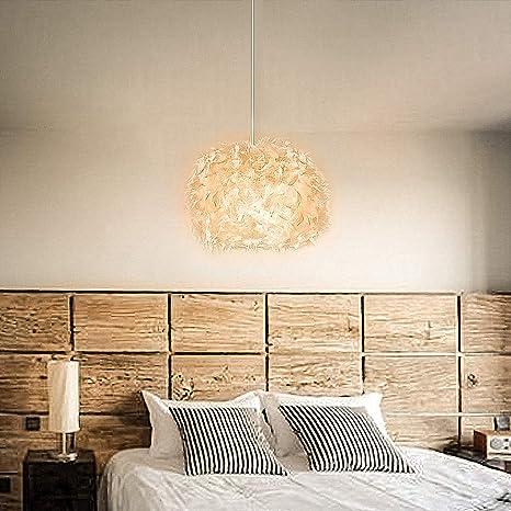 Mondeer Pluma Colgante Iluminación Lámpara de techo, Blancas ...