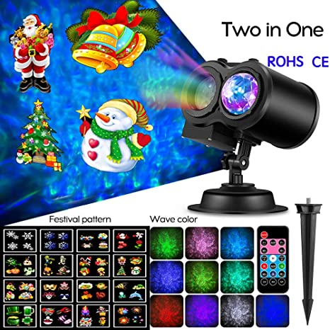 Lixada Luces de Proyector de Navidad AC100-240V Iluminación ...