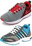 Ethics Best Red Air Breathing Running Sports Shoes & Sea Green Black Running Sports Shoes for Men