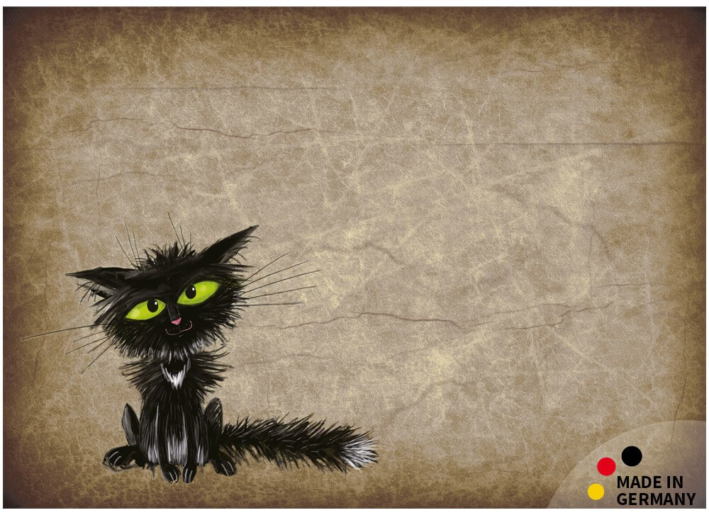 matches21 Fu/ßmatte Fu/ßabstreifer schmutzabsorbierend Schmutzfangmatte lustige Katze nach Steckdose 50x70 cm waschbar