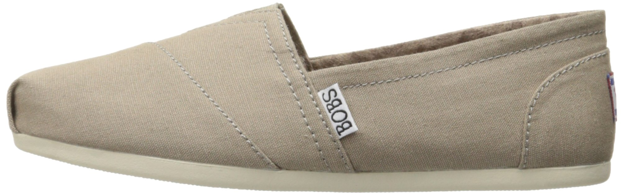 Skechers BOBS Women's Plush-Peace and Love Flat, Taupe, 8.5 W US by Skechers (Image #5)