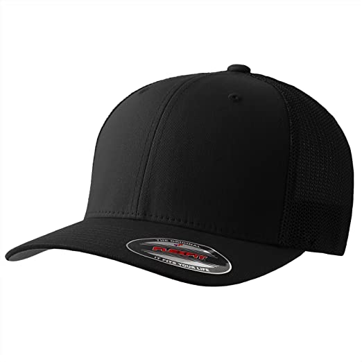 e7587383a30b0 Image Unavailable. Image not available for. Color  The Original Flexfit  Yupoong Mesh Trucker Hat ...