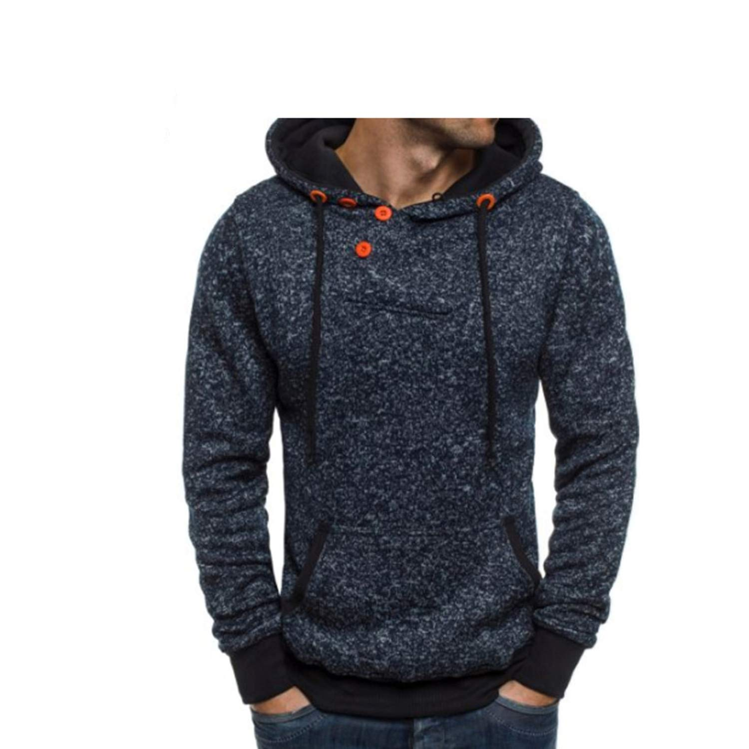 Kaured Fashion-hoodies Men Solid Color Flannel Hip Hop SweatMens Hoodies Cotton Pullover Male Hoody