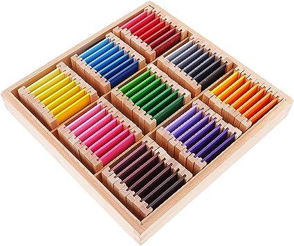 MagiDeal Montessori Juego Educativo Sensorial Material Ejercicio de Color Caja de Madera Regalo para Niños Bebés - Grande: Amazon.es: Juguetes y juegos