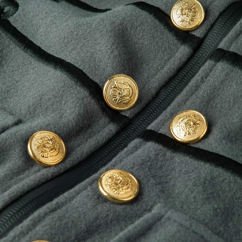Fannyfuny Abrigo Chaqueta para Hombres con Botones Bordados G/óticos Uniforme Traje Ropa de Fiesta Vintage Traje de Navidad Halloween Ropa de Rendimiento