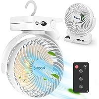 Simpeak 8000 mAh USB-ventilator met afstandsbediening, draagbare mini-ventilator voor camping, tafelventilator met 3…