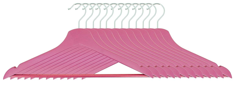 Pamex Perchas de Madera Rosae Set 12 Unidades Rosa