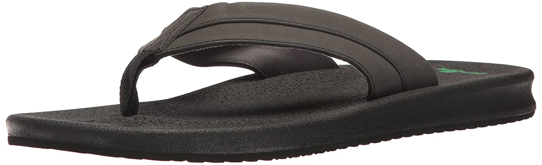 Sanuk para hombre brumeister sandalias calzado 42|Negro