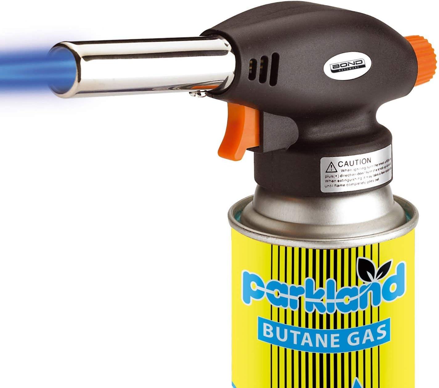 4 Canisters SmashingDealsDirect/® Br/ûleur /à gaz pour soudage au gaz et allumage Automatique Torch
