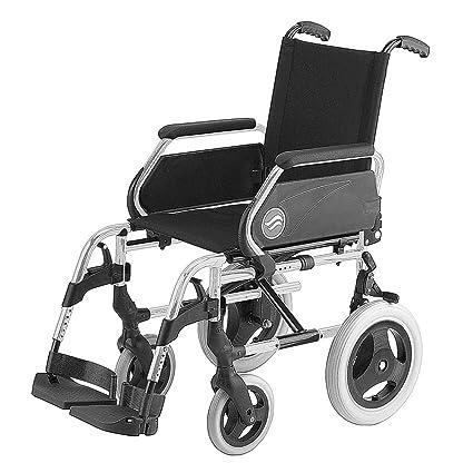 """Silla de ruedas Breezy 250 en acero cromado con ruedas pequeñas de 12"""" asiento de"""