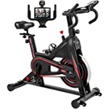 Exercise Bike, DMASUN Indoor Cycling Bike Stationary, Comfortable Seat Cushion, Multi - grips Handlebar, Heavy Flywheel…