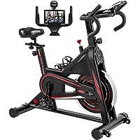 Exercise Bike, DMASUN Indoor Cycling Bike Stationary, Comfortable Seat Cushion, Multi - grips Handlebar, Heavy Flywheel…