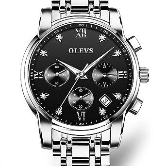 Amazon.com: olevs reloj luminoso hombres marca de lujo de ...