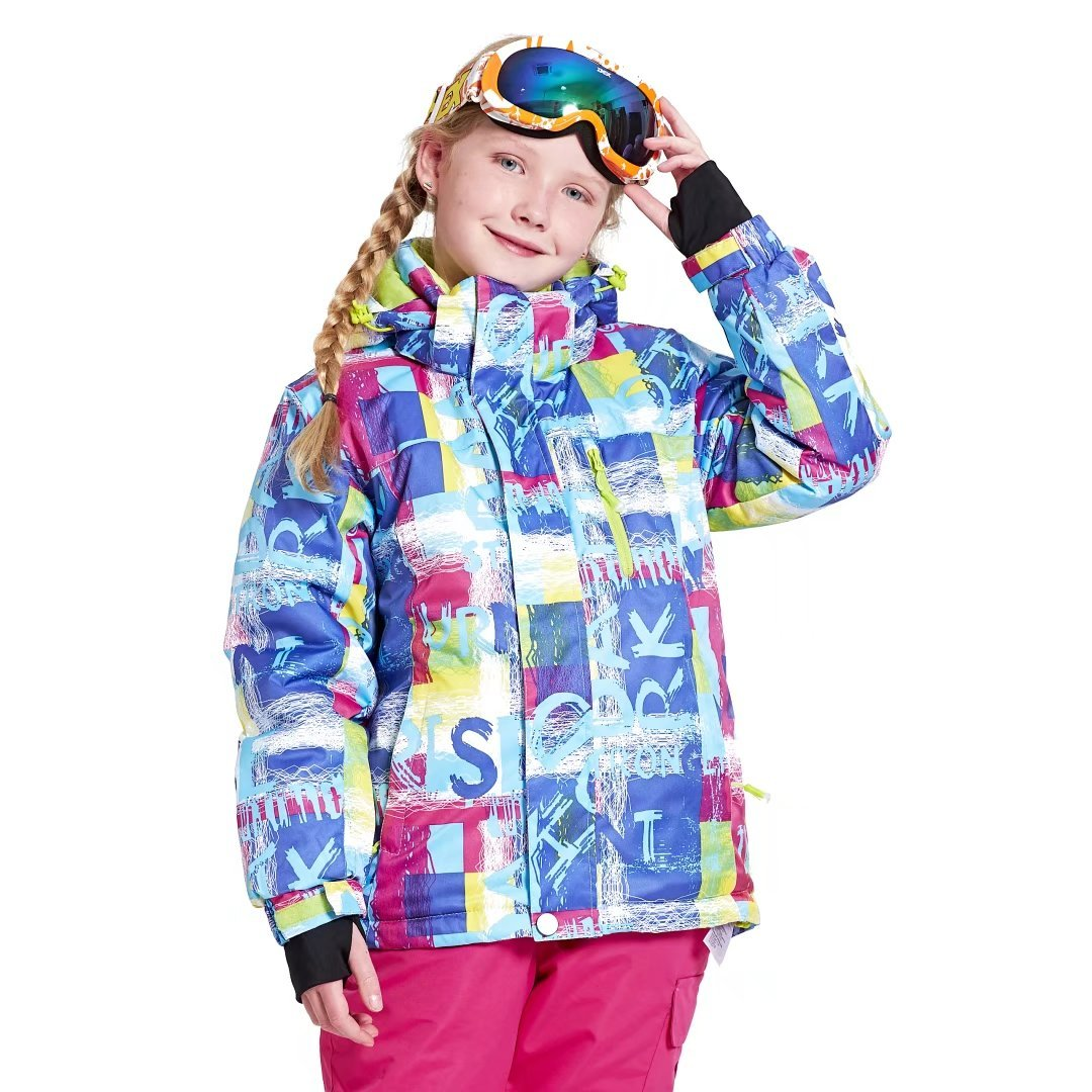 Snow Kids Ski Pants Insulated Snow Bib Classic Skiing Trousers for Children WILD SNOW