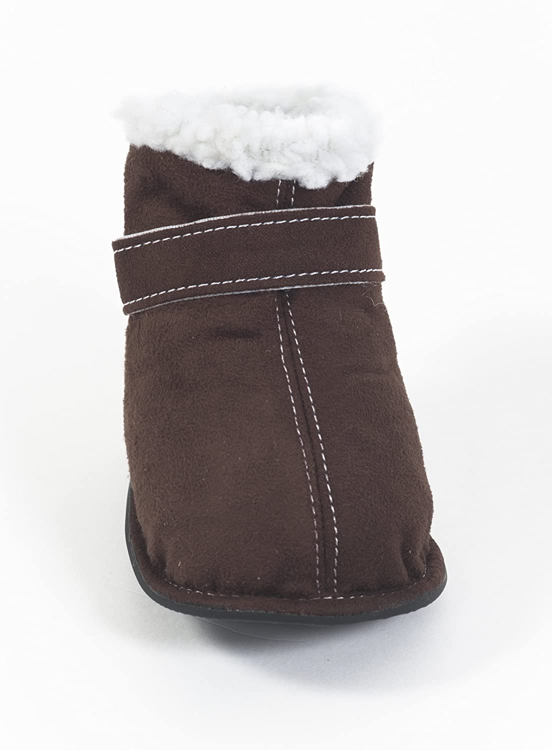 Fashion Pet Outdoor Dog Shearling Boots, Large, Brown