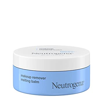 Neutrogena Makeup Remover Melting Balm to Oil with Vitamin E -Gentle and Nourishing Makeup Removing Balm for Eye Lip or Face Makeup Travel (Friendly for On the Go), blue, 2 Count