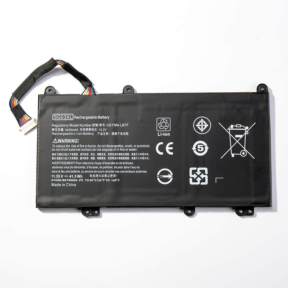Binger New SG03XL Replacement Laptop Battery Compatible with HP Envy M7-U M7-U009DX 17-U011NR 17t-U000 Series Notebook 849315-850 TPN-I126 849049-421 HSTNN-LB7F HSTNN-LB7E SG03061XL (11.55V 41.5)