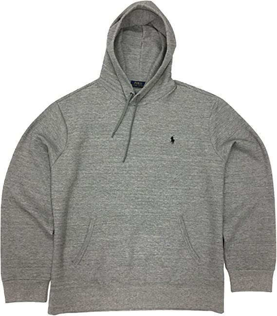 Polo Ralph Lauren Men S Double Knit Pullover Hoodie Grey Heather Xx Large Amazon Ca Clothing Accessories