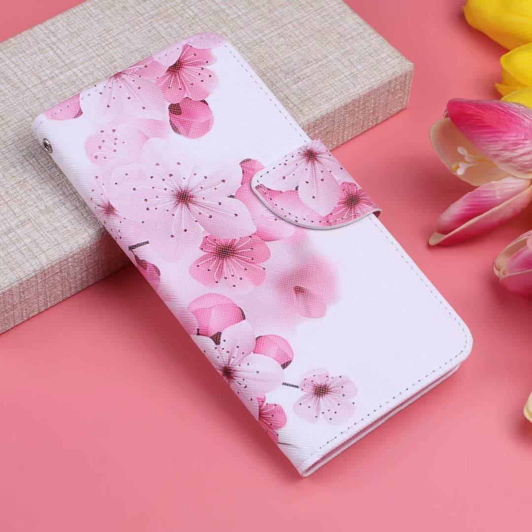 Coque pour Huawei Y6 Pro Y6 2019 Etui PU+TPU Cuir Silicone Identification Empreinte Digitale Antichoc Support Carte Portefeuille Magn/étique Housse