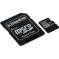 Kingston SDCS/16GB - MicroSD Canvas Select 16GB, velocidades de UHS-I Clase 10 de hasta 80 MB/s Lectura (con Adaptador SD)