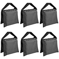 Neewer® 6 Pack Black Sand Bag Photography Studio Video Stage Film Saddlebag for Light Stands Boom Arms Tripods