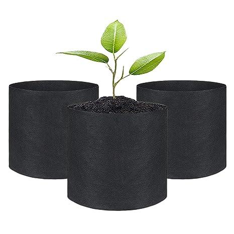 SunTrader 3 Unidades 1 galón Bolsas de Cultivo/macetas de ...