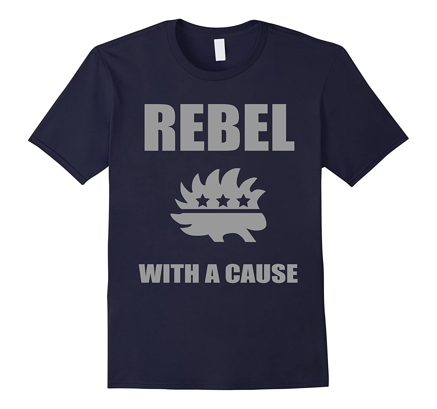 Rebel With A Cause T-Shirt  Libertarian Party Porcupine-TD