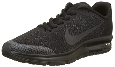 Nike Youth Air Max Sequent 2 Textile Black Anthracite Trainers 5 US