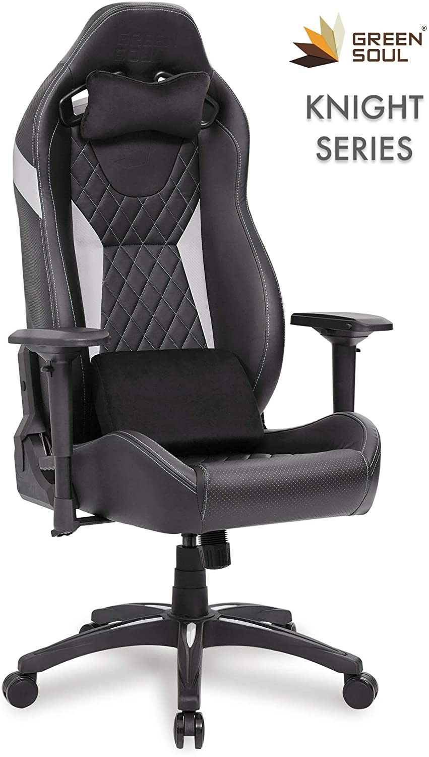Green Soul Knight Series PU Leather, 4D Armrests, Class 4