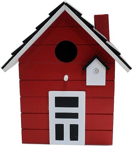 CasaJame - Pajarera de madera para balcón y jardín, casa para pájaros, pajarera, 20 x 17 x 12 cm: Amazon.es: Productos para mascotas