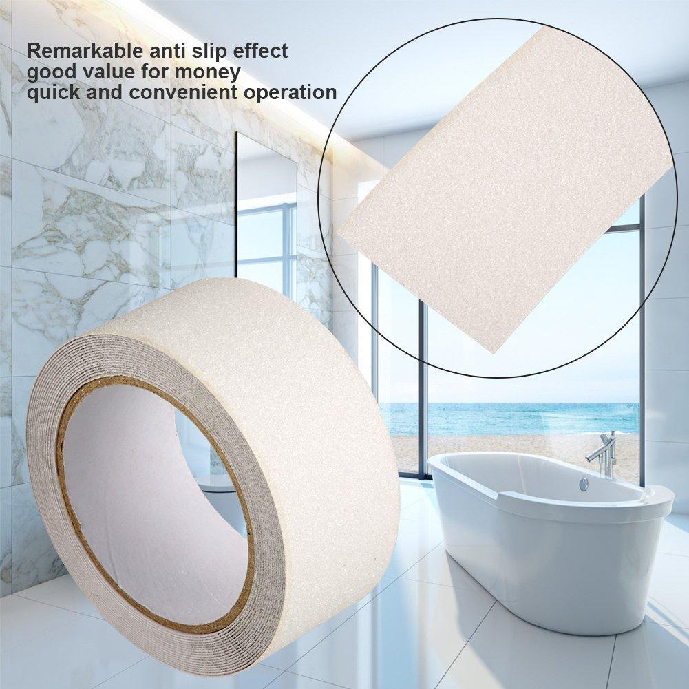 gris blanco y negro Cinta adhesiva antideslizante de PVC resistente al desgaste color amarillo transparente 5 cm x 5 m