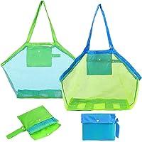 Bolsa Plegable de Malla de Playa - Miotlsy Juguetes de Bolsa de Almacenamiento para al Aire Libre Natación Piscina…
