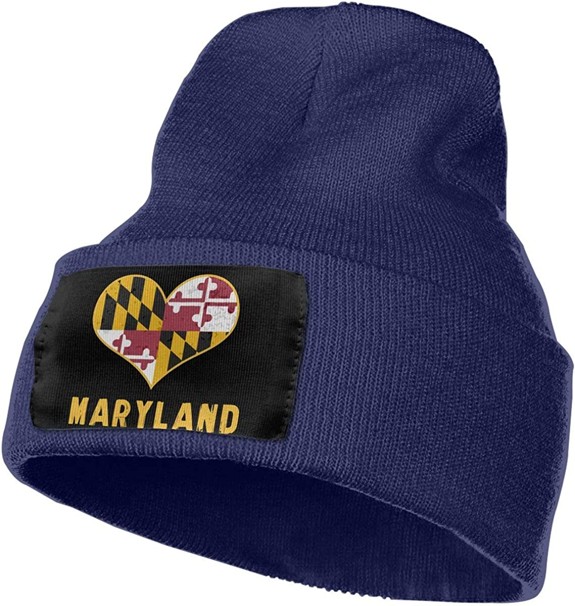 Maryland State Flag Thick Beanie Hat WHOO93@Y Mens and Womens 100/% Acrylic Knitting Hat Cap
