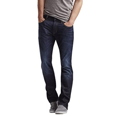 Aeropostale Mens Relaxed Dark Wash Jeans